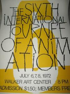 July 1972   The Sixth International Tournee animation   Walker Art Center poster