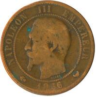 COIN / FRANCE / 10 CENTIMES 1856 NAPOLEON III. #WT5516