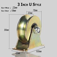 "1 Pack 3""inch Sliding Gate Roller Steel U Type Wheel Track Rail w/Bracket"