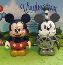 "Disney Vinylmation 3"" Park Set 1 Mickey Through Years Steamboat Willie Modern"