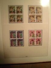 Sammlung CH Schweiz VIERERBLOCKS gestempelt 1980-1989 komplett (8223)