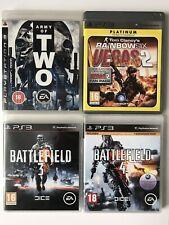 PS3 Game Bundle Army Of Two+Rainbow Six Vegas 2+Battlefield 4+Battlefield 3-1005