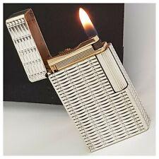 Briquet gaz * S.t Dupont Paris * silver/gold plate - Lighter-Feuerzeug-Accendino