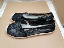 JUMEX Collection Ladies Espadrille Flat Black Shoes - EU 38/UK 5