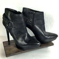 Jessica Simpson Vinata 10M Ankle Bootie Platform Stiletto Heels Chains Side Zip