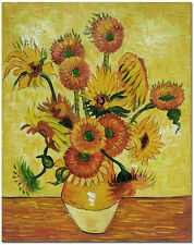 15 Sunflowers - Hand Painted Van Gogh Flower Oil Painting On Canvas