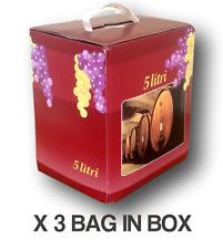 Vino Rosso Axina Bag in Box lt.5 (3 pz) - Vini Sfusi Sardegna -