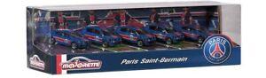 Majorette 212053175 - Set Paris Saint-Germain (2021 Version) - 5 Fahrzeuge - Neu