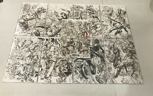 Civil War II #0-8 Lot Complete Sketch Variant Set - Free Shipping