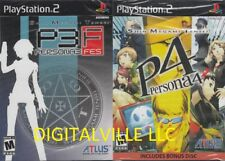 Shin Megami Tensei Persona 3 and 4 SonyPlayStation 2 Dual Pack PS2 2 Games Combo