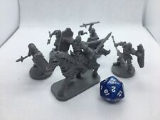 Lot B of 5 Guardsmen/ Soldier Miniatures for Dungeons and Dragons 5e Rpg