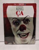 "Steelbook Blu Ray Stephen KING : ""ÇA"" IL EST REVENU - Neuf / New & sealed"