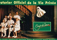 PUBLICITE ADVERTISING 025  1993  COUP DE COEUR  pyjamas pantoufles sus vet ( 2p)