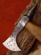 Axt High Carbon Stahl mit Scheide handgeschmiedet Wikinger 5555
