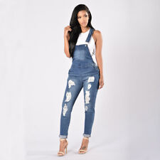 Womens Dungarees Jumpsuit Romper Playsuit Short Long Harem Trousers Pants Jeans