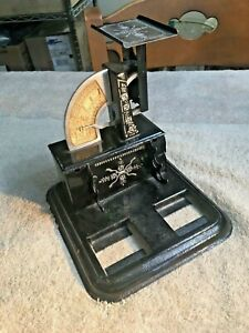 """Antique """"The Gem Postal Scale"""" - 1920's - w/ Storage for Stamps - A1834"""