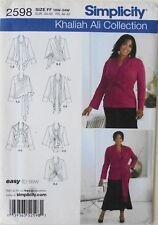 Simplicity 2598 Womens Plus Knit Top Cardigan Wrap Sewing Pattern 18W-24W
