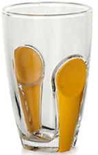 Pasabache Set of 6 Glass Tumblers Snap Range With Yellow snap on