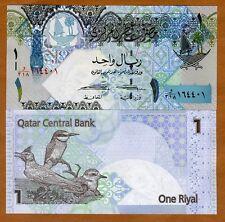 Qatar, 1 Riyal, ND (2008), New 2015 Signature, P-28-New, UNC > Birds