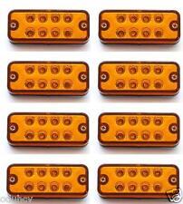 8x 12V LED Side Marker Amber Orange Lights Panel Lamps Truck Lorry Bus Trailer