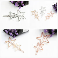 Women's Girls Double-Shaped Hair Clip Hairpins Hair Clips Barrette Slide Grips