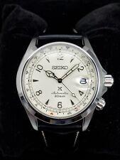 Seiko Prospex Alpinist White Leather Strap Automatic Men's Watch SPB119