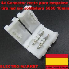 4x Conector recto para empalme tira led  sin soldadura 5050  10mm
