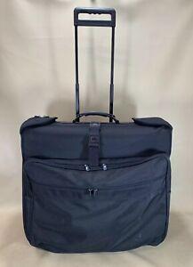 "Briggs & Riley Black Ballistic Nylon 24"" Wheeled Extended Trip Garment Bag"