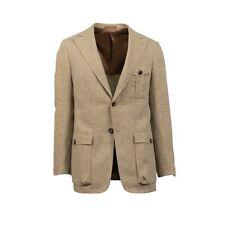 NWT CARUSO Tan Two Button Linen Sport Coat 50/40 R Drop 8