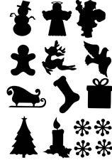 CHRISTMAS MIXED  VINYL STICKER, DECOR, FOR WALL, WINDOW ECT