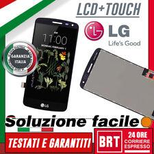 DISPLAY LCD+TOUCH SCREEN ORIGINALE PER LG K5 X220 SCHERMO VETRO NERO _24H TUO!!!