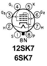 New In Box National 12Sk7 Radio Rf / If Amp Tube / Valve