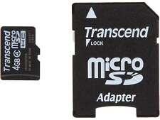 Transcend 4GB Micro SD microSDHC Flash Card with Adapter