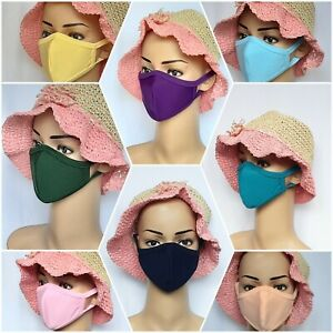 SMALL MEDIUM LARGE ALL SIZES COTTON FABRIC FACE MASKS DOUBLE LAYER FACE COVERING