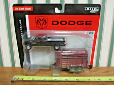 Black Dodge Ram 2500 Pickup With Horse Trailer By Ertl 1/64th Scale