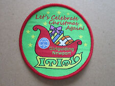 Newport Christmas Girl Guides Cloth Patch Badge (L2K)