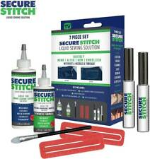 NEW Secure Stitch 7-Piece Liquid Sewing Solution Kit Mend Hem Without Needle NIB