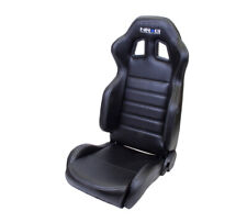 NRG Reclinable Racing Seat - Black Leather w/ Silver Stiching (Left & Right)