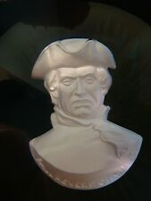 PAUL REVERE SULFID ART GLASS PAPERWEIGHT CRISTAL D'ALBRET FRENCH CUT FACETED MA