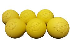 Velocity 6 Pack Of Yellow Lacrosse Balls Nocsae Certified
