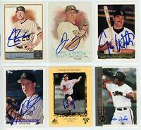 COLORADO ROCKIES Autographed Signed Baseball Card Lot - 6 Autos, CHRIS IANNETTA