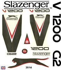 Latest Slazenger V1200 2017 World Cup Edition English Willow cricket bat sticker