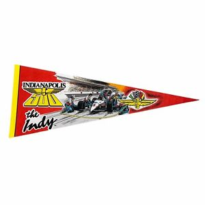 """Vintage 90s Indianapolis 500 """"The Indy"""" Racing Full Size Pennant Auto Race 12x30"""