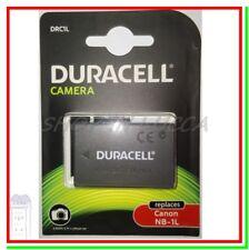 Batteria Ricaricabile DURACELL DRC1L = Canon NB-1L x IXUS 500 Powershot S500