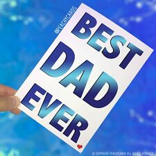 Father's Day Card Dad Card From Daughter Son Best Dad Ever Birthday Cards PC395