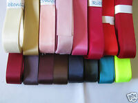 22mm / 25mm DOUBLE FACED SATIN RIBBON   5m  or 10m  various colours