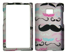 Pink Mustach  LG Optimus Logic / Dynamic L38c / L35g / L3 Case Cover