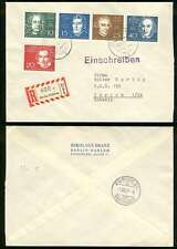 GERMANY 1959 Sc 315-316, 318-319 & 317 ON R-COVER TO SWITZERLAND VF MUSIC