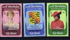 KIRIBATI 1982 PRINCESS DIANA 21st SET 3 OVERPRINTED SPECIMEN MNH
