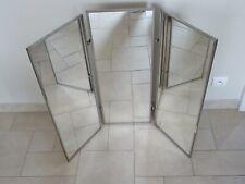 GRAND miroir triptyque XXL SALLE DE BAIN déco art populaire old triptych mirror